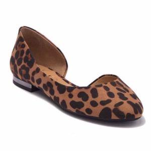 NWB Jessica Simpson d'Orsay Flat Leopard 7